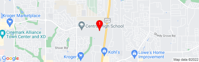 Google Map of 5850 Park Vista Cir, Suite 106 Fort Worth, Texas 76244