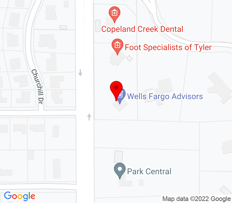 Click to view Google maps office address 5858 New Copeland Road, Tyler, TX 75703