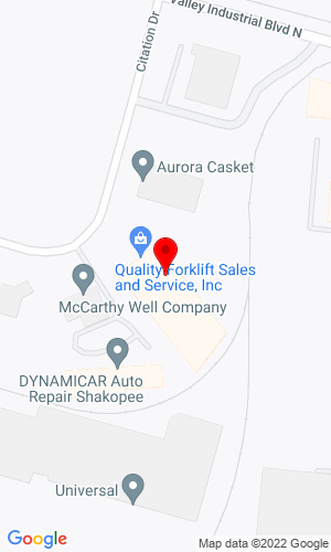 Google Map of Quality Forklift Sales & Service, Inc. 587 Citation Drive, Shakopee, MN, 55379