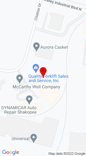 Google Map of Quality Equipment Sales and Service, Inc. 587 Citation Drive, Shapokee, MN, 55379