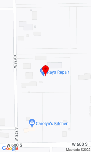 Google Map of Ray's Repair 5885 S 675 West, Topeka, IN, 46571