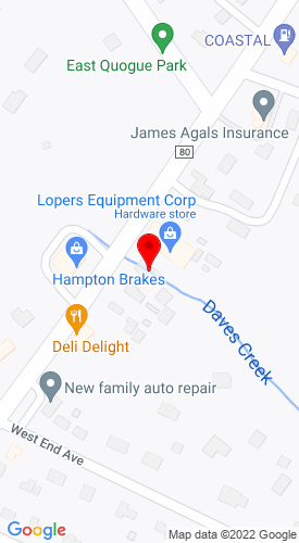 Google Map of Louisiana Machinery, LLC. 589 Montauk Highway, East Quogue, NY, 11942