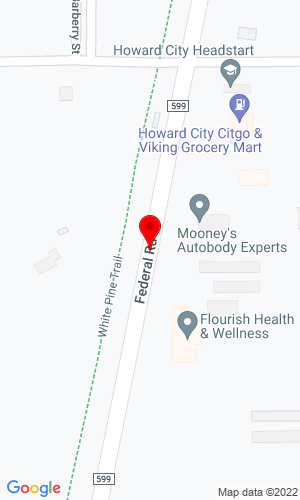 Google Map of Aloha Equipment Company 5894 Federal Road, Howard City, MI, 49329
