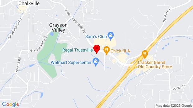 Google Map of 5895 Trussville Crossings Pkwy, Birmingham, AL 35235