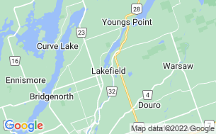 Map of Lakefield Campgrounds