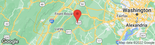 Map of 59 RILEY HOLLOW ROAD HUNTLY, VA 22640