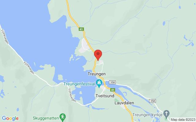 Kart over Solås 2, Treungen