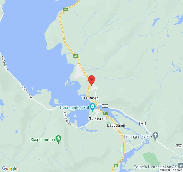 Kart over Fleirbrukshuset, Solås 2, Treungen