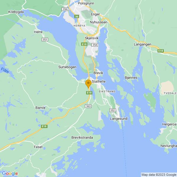 Google Map of 59.0368004,9.67463829999997