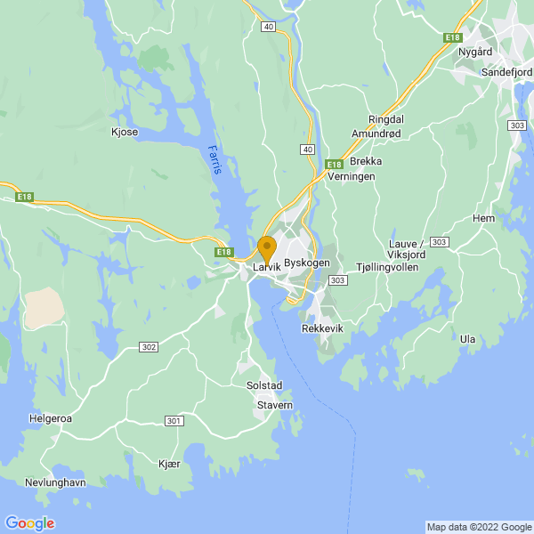 Google Map of 59.0538363,10.0295463