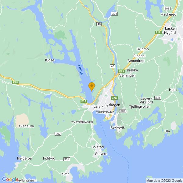 Google Map of 59.07121234184658,10.014213170505286