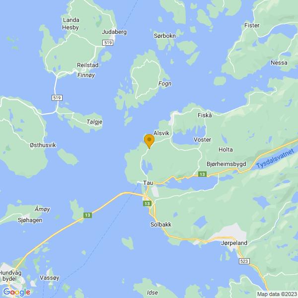 Google Map of 59.088785842430184,5.923950705779095