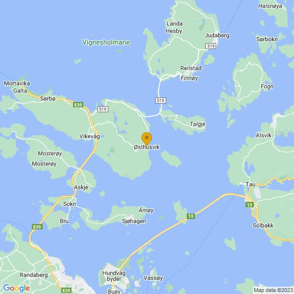 Google Map of 59.0918145,5.777096300000039