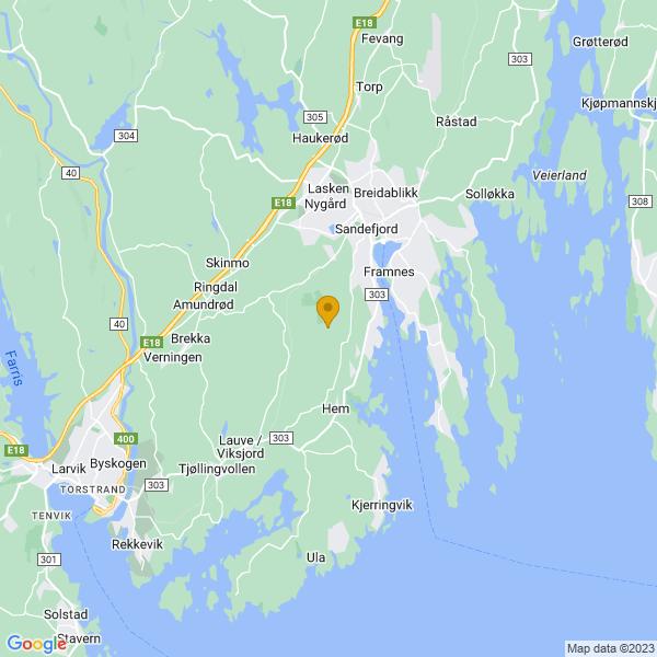 Google Map of 59.0990001,10.1923752