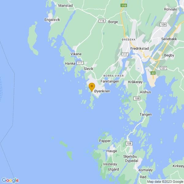 Google Map of 59.170672239836435,10.828056335449219