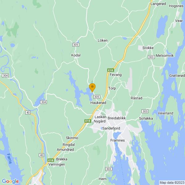 Google Map of 59.17216144583186,10.174480408459479