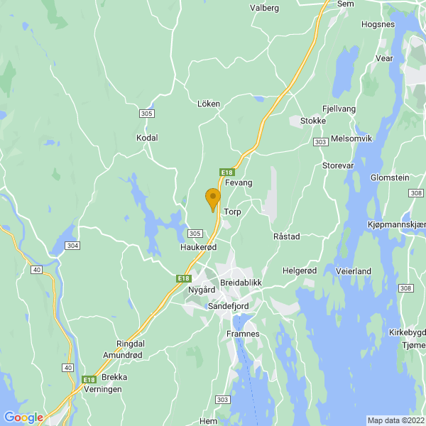 Google Map of 59.17740430000001,10.201834