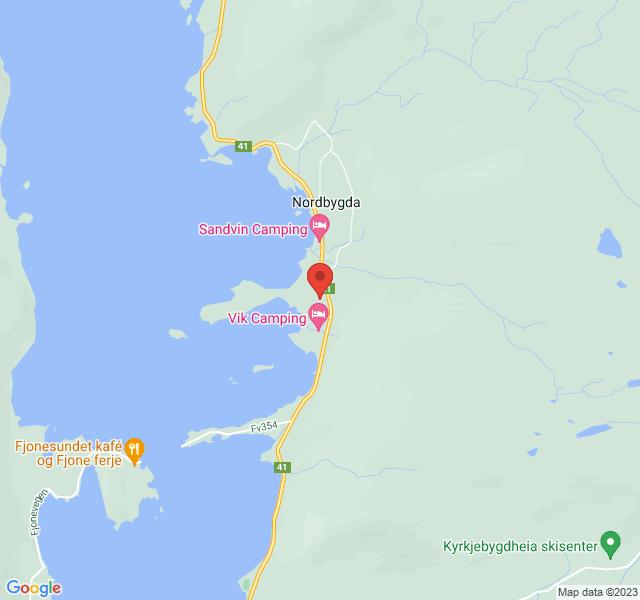 Kart over Søndre Vik Bigård- Nissedal