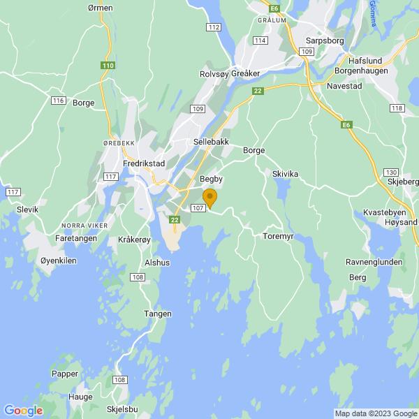 Google Map of 59.19746579999999,10.9993821
