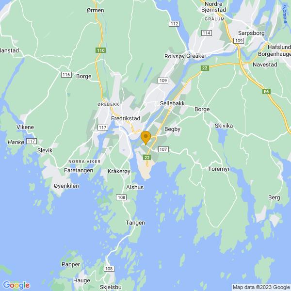 Google Map of 59.2007316,10.9630846