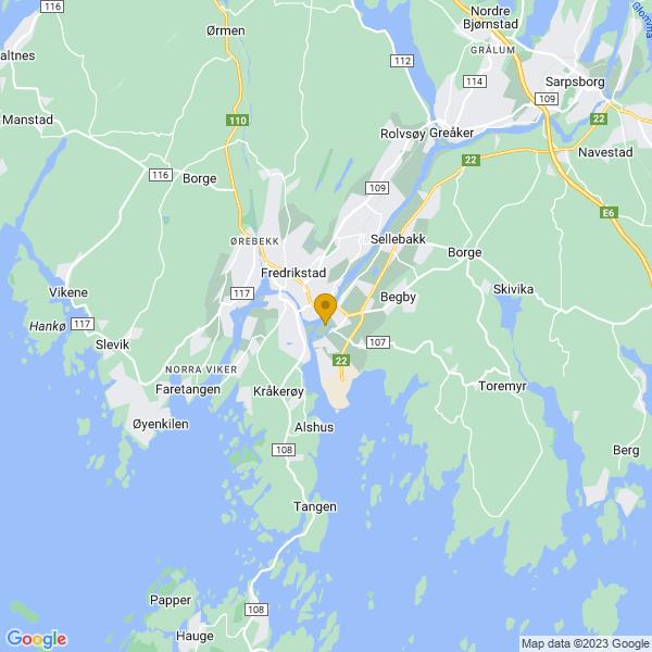 Google Map of 59.2032634,10.9551539