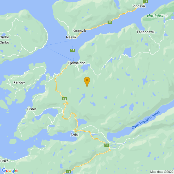 Google Map of 59.20350266899602,6.1970391011718675