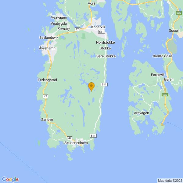Google Map of 59.209358,5.291848