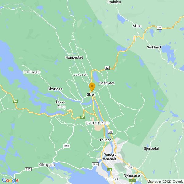 Google Map of 59.21172398746559,9.607583575278568