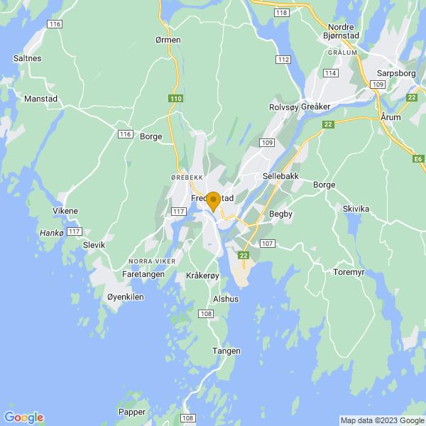 Google Map of 59.21310099999999,10.935701999999992