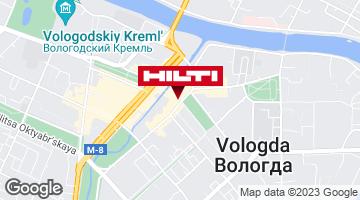 Get directions to Региональный представитель Hilti в г. Вологда