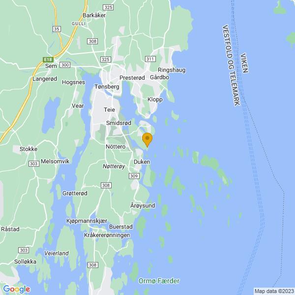 Google Map of 59.2239417,10.4643959