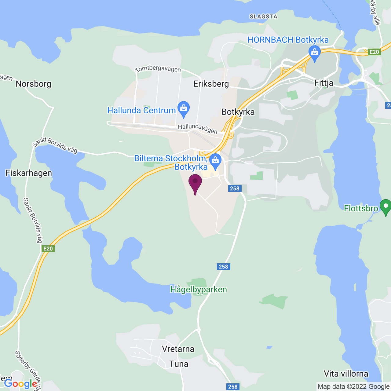 Kort över Kumla Gårdsväg 23