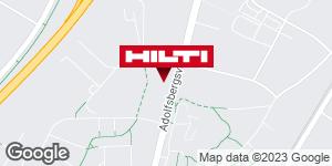 Få vägbeskrivning till Hilti-butik Örebro