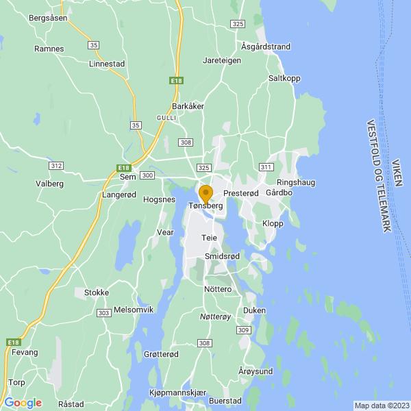 Google Map of 59.26756990000001,10.4075608