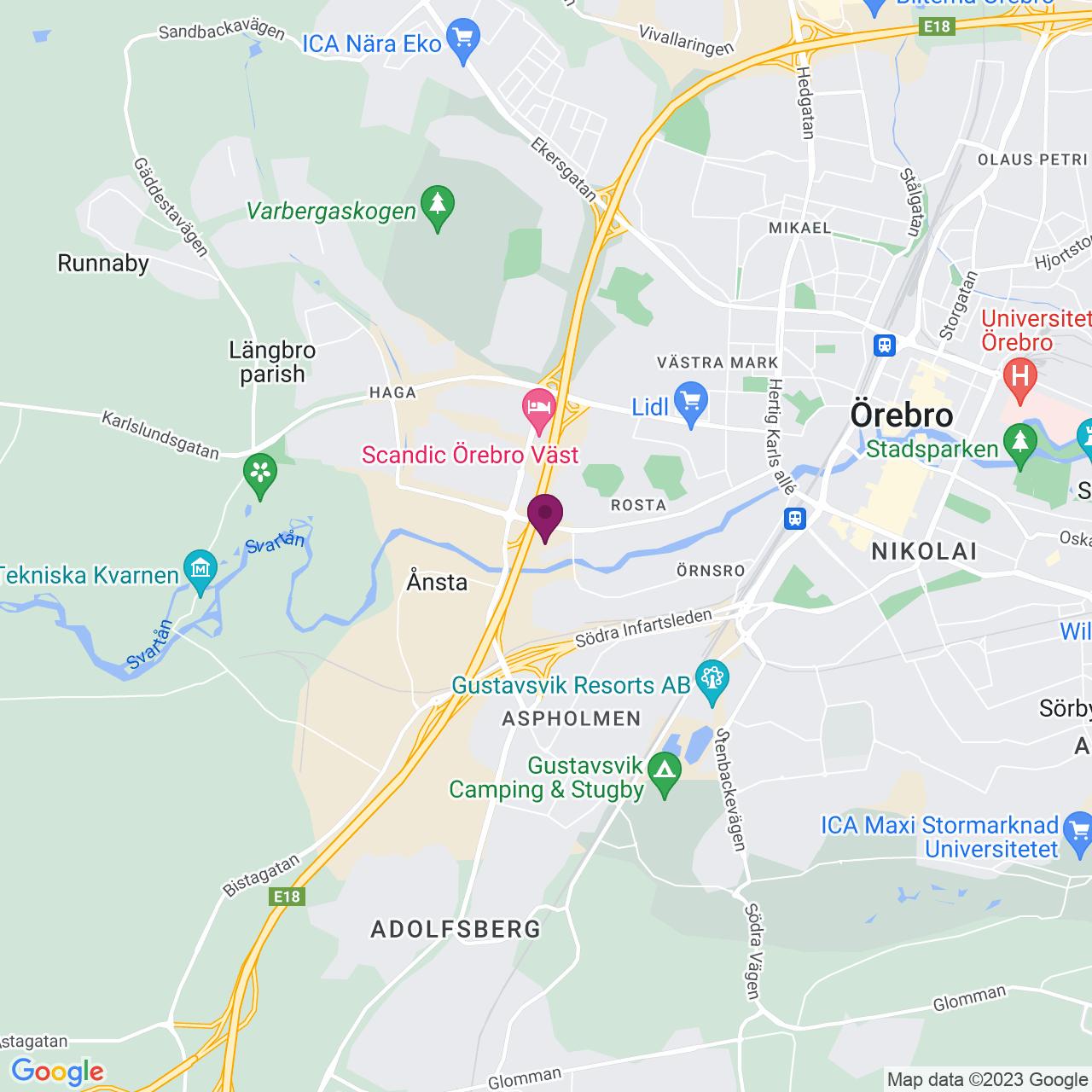 Karta över Stubbengatan 2