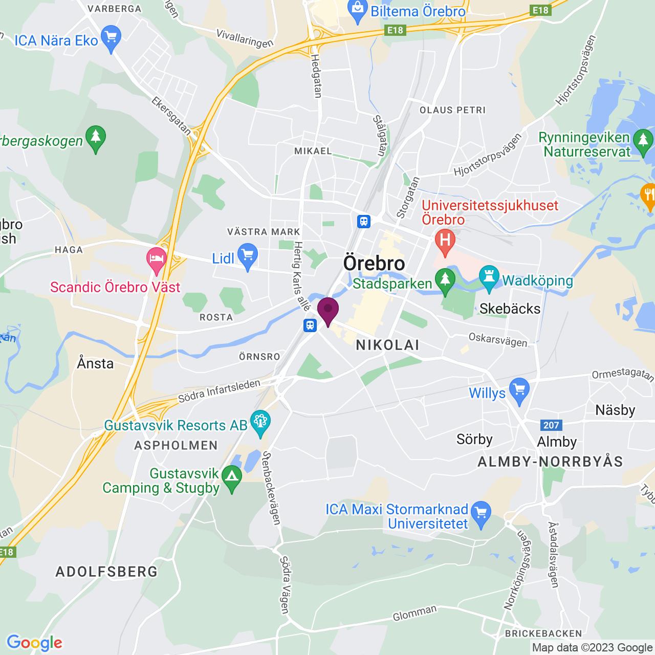Karta över Fabriksgatan 24