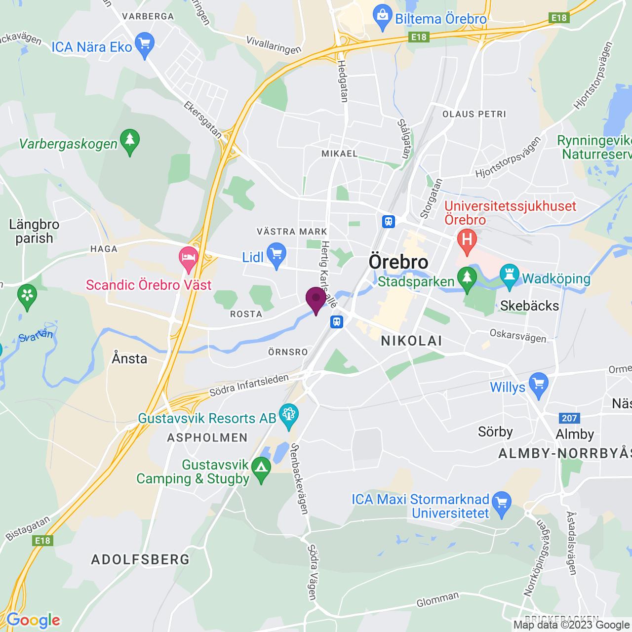 Karta över Fridhemsgatan 2