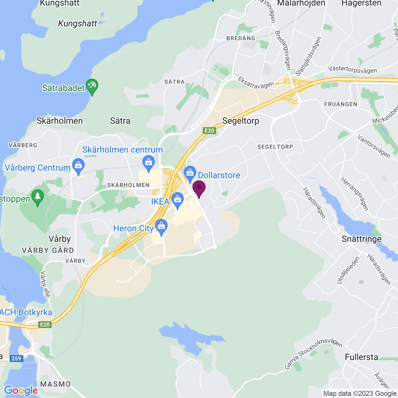 Karta över Jägerhorns Väg 8