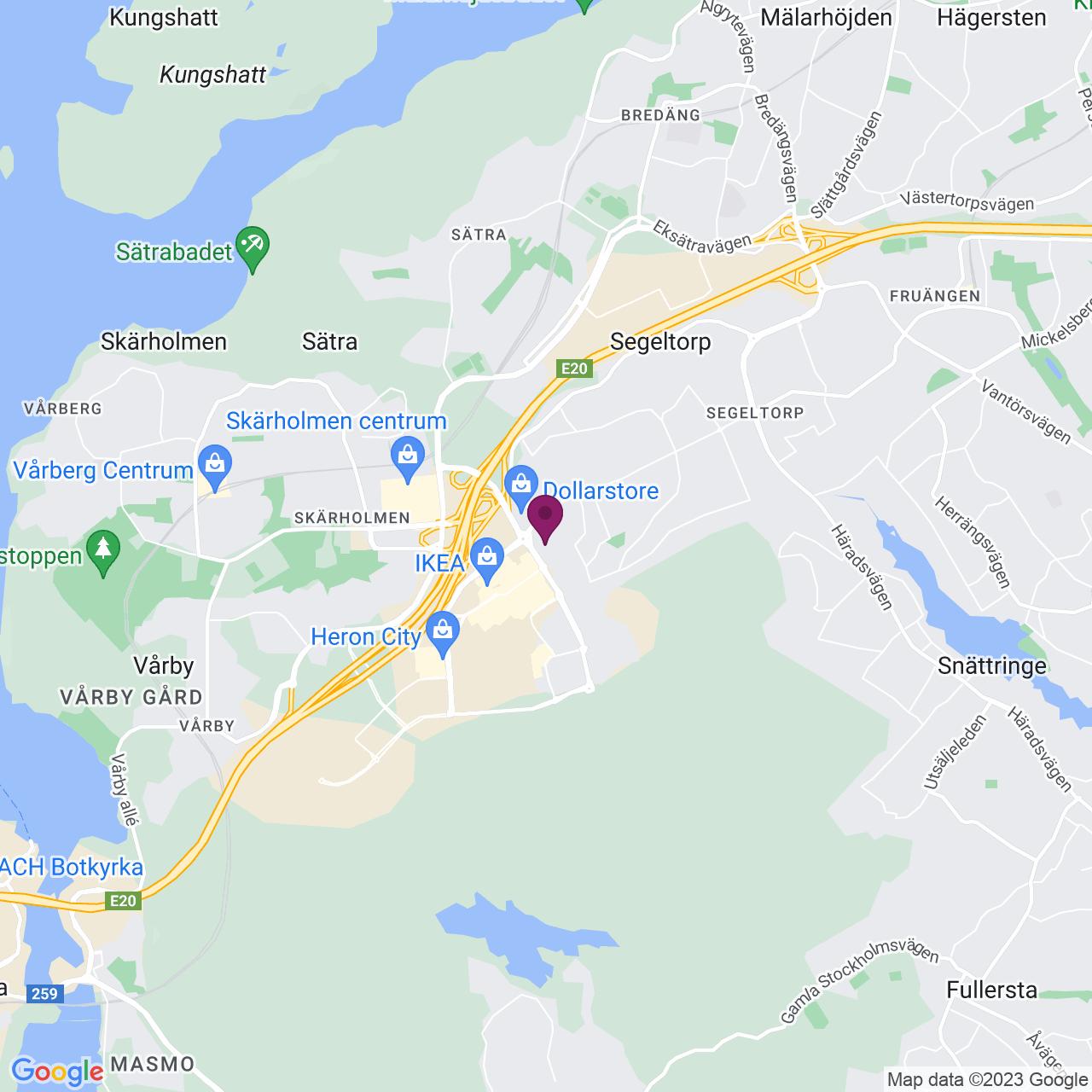 Karta över Jägerhorns Väg 6