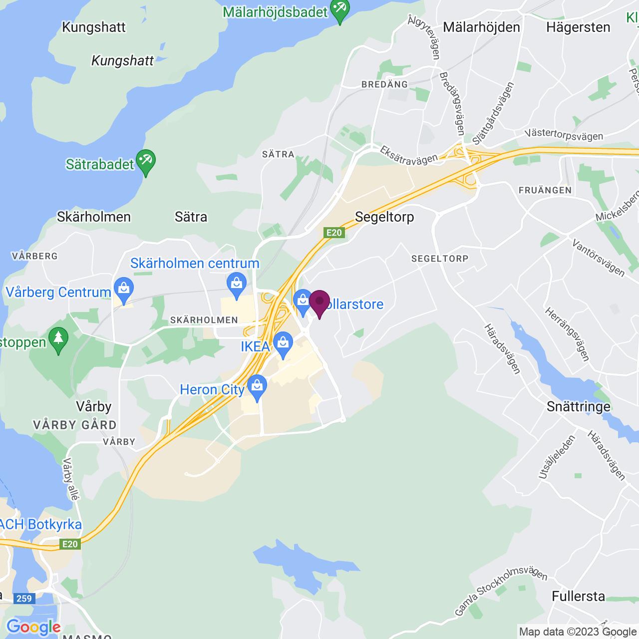 Karta över Jägerhorns Väg 1