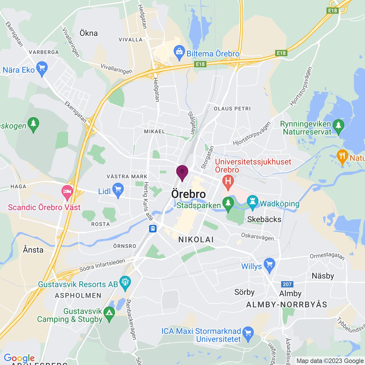 Karta över Klostergatan 23