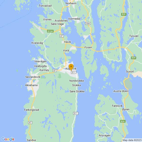 Google Map of 59.2801018,5.3071112000000085