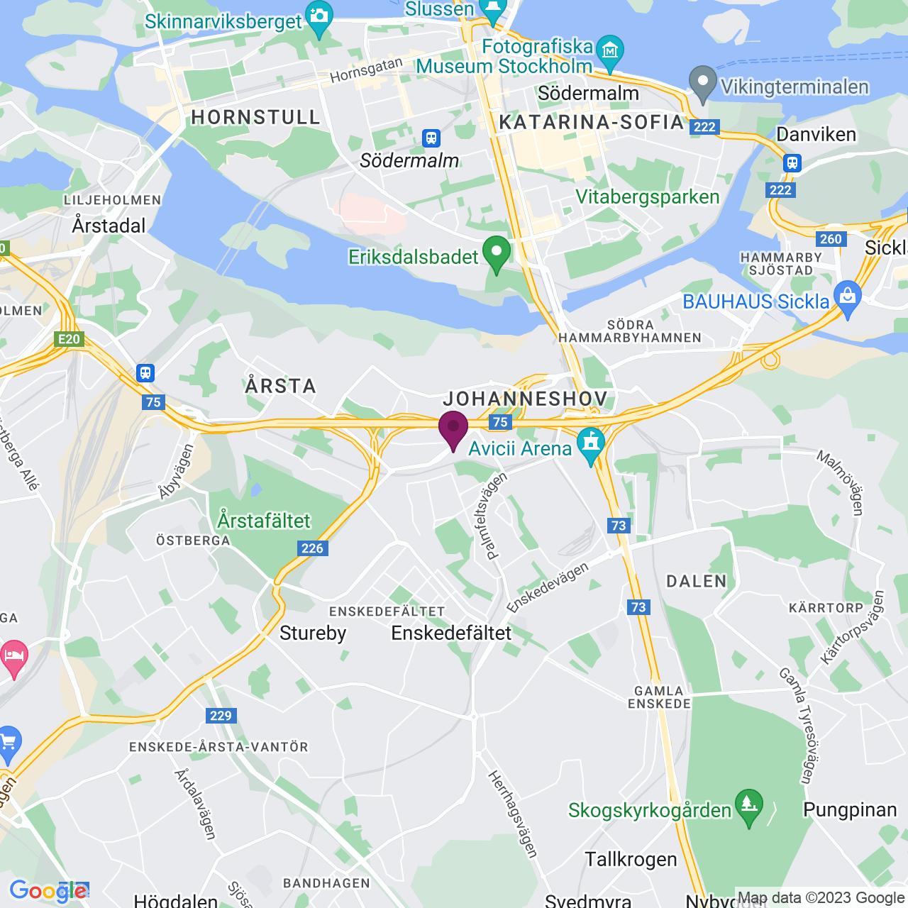 Karta över Lindetorpsvägen 17