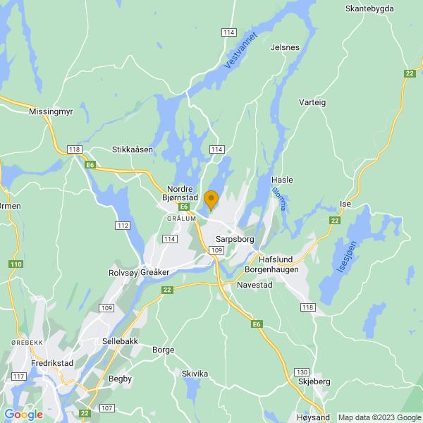Google Map of 59.2962131,11.0897317