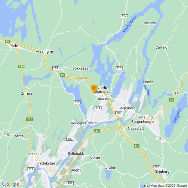 Google Map of 59.29831896659778,11.040894570452906