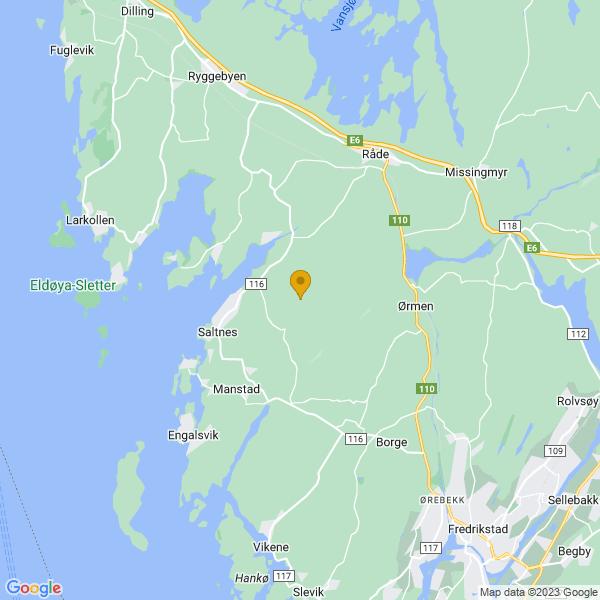 Google Map of 59.3007838,10.812911500000041