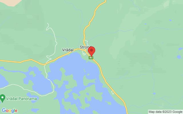 Kart over Straand Hotel, Vrådal