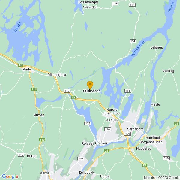 Google Map of 59.32806989999999,11.009313799999973