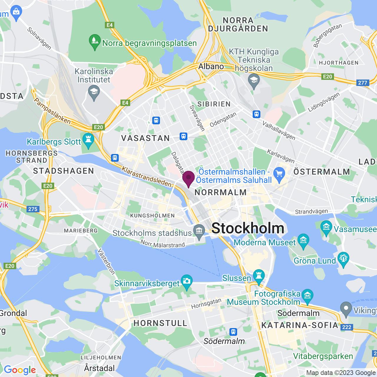 Map of Lilla Bantorget 15