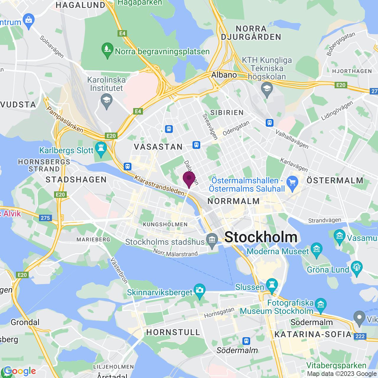 Map of Torsgatan 22